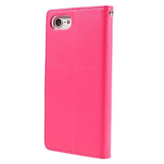 Mercury Goospery Hülle für Samsung Galaxy S6 Edge Cover aus Leder Bravo Diary Series rosa