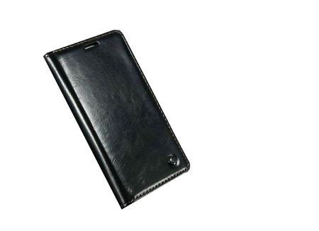 Caseme - Klassische Leder Hülle für Samsung Galaxy S6 Edge Plus - schwarz