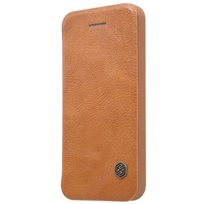 Nillkin Nillkin - iPhone 5/5S/SE Hülle - Leder Case - Qin Series - braun
