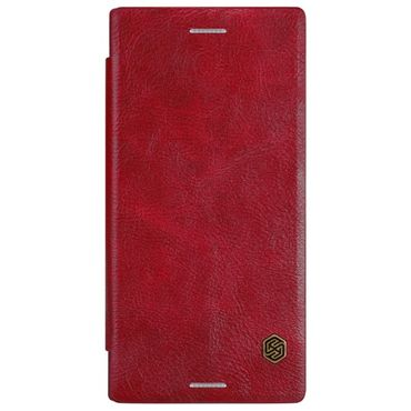 Nillkin - Sony Xperia XZ/XZs Hülle - Leder Case - Qin Series - rot