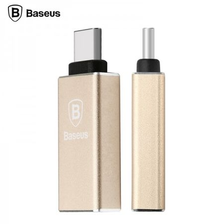 Baseus - Typ-C Adapter - Sharp Series - champagnergold