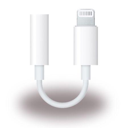 Apple - Kopfhöreranschluss  Adapter - Lightning auf 3.5mm - MMX62ZM/A - weiss