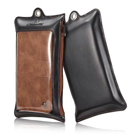 Caseme - Hülle für iPhone 5/5S/SE - Case aus Leder/Plastik - mit abnehmbarem Plastik Cover - braun