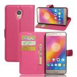 Lenovo P2 Handy Hülle - Case aus Leder - mit Litchitextur und Standfunktion - rosa