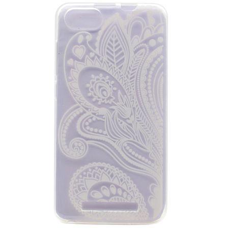 Wiko Lenny 3 Handy Hülle - Case aus elastischem Plastik - weisses Muster