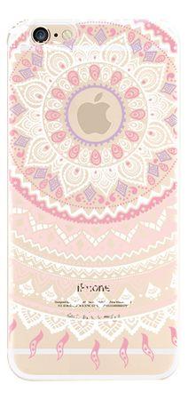 Samsung Galaxy A5 Hülle - Plastik Case - Mandala - Weiss/Pink