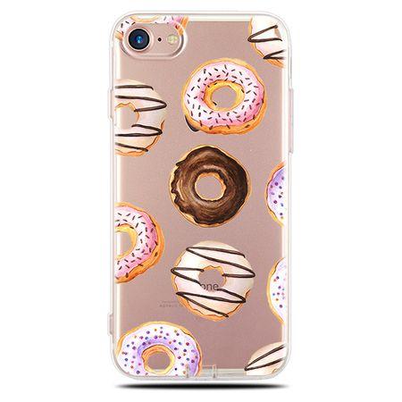 Galaxy S6 Edge Hülle - Biegsames Plastik Case - Donuts