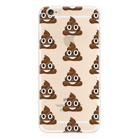 Galaxy S6 Edge Hülle - Biegsames Plastik Case - Emoji Haufen