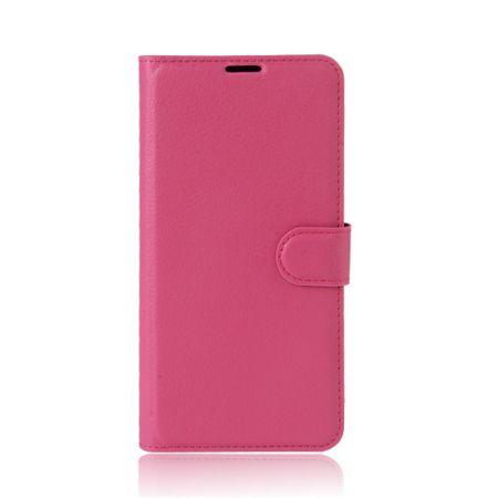 Handy Case für Samsung Galaxy Xcover 4 - Hülle aus Leder - mit Litchitextur und Standfunktion - rosa