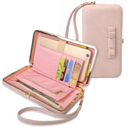 Universelle Handy Clutch Portemonnaie - Rosa