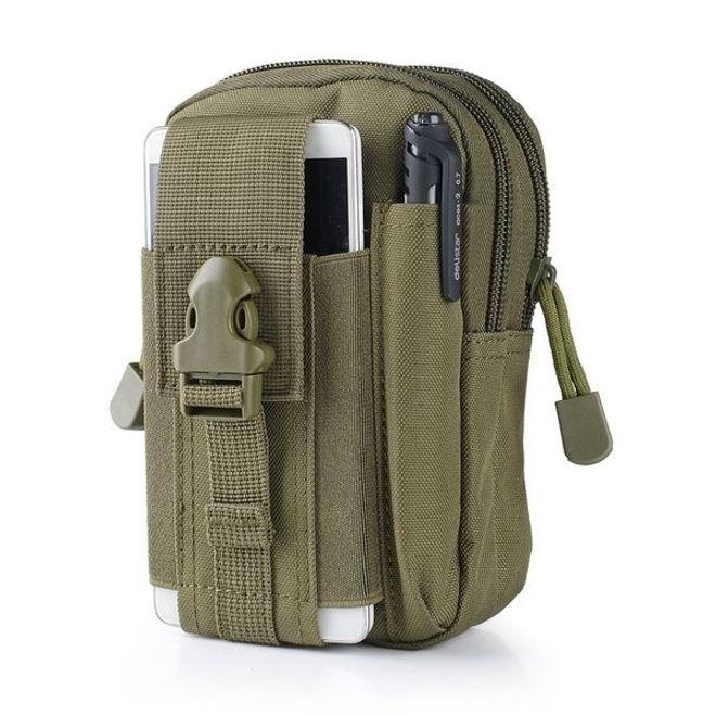 MU Classic Universelle Outdoor Handytasche - für Smartphones mit Masse 12x16 cm (6 Zoll) aus Nylon - khaki