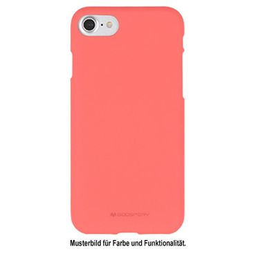 Mercury Goospery - iPhone 8 Plus / 7 Plus Handy Cover - Softcase aus sanftem TPU Plastik - SF Jelly Series - pink