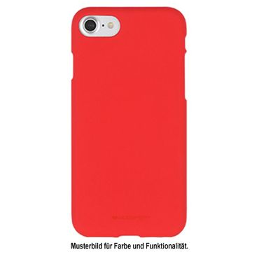 Mercury Goospery - iPhone 8 Plus / 7 Plus Handy Cover - Softcase aus sanftem TPU Plastik - SF Jelly Series - rot