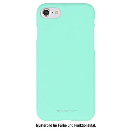 Mercury Goospery - Samsung Galaxy Note 4 Handy Cover - Softcase aus sanftem TPU Plastik - SF Jelly Series - mint