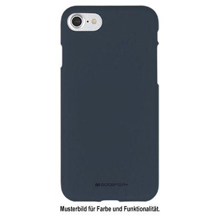 Goospery - Samsung Galaxy S6 Handy Cover - TPU Soft Case - SF Jelly Series - midnight blue