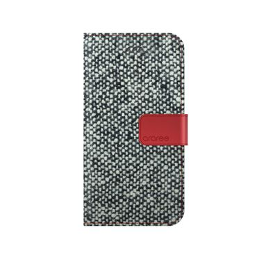 Araree - iPhone 8 Plus / 7 Plus Handy Hülle - Case aus Leder/Stoff - Neat Diary Series - square dot