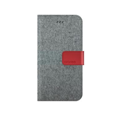 Araree - iPhone 8 Plus / 7 Plus Handy Hülle - Case aus Leder/Stoff - Neat Diary Series - Cashmere sod