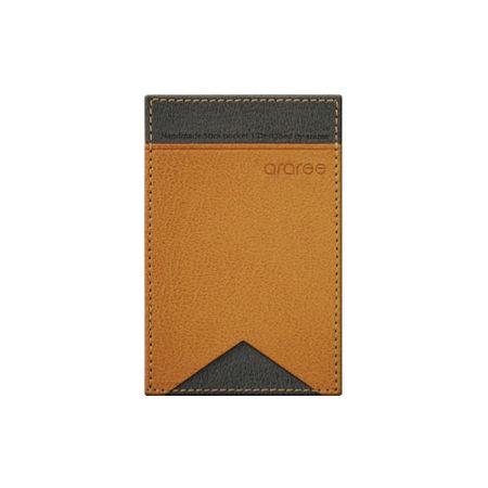 Araree - Universelles Visitenkartenfach Etui - mit Kleber auf der Rückseite - Stick Pocket Lite Series - braun
