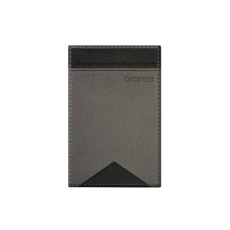 Araree - Universelles Visitenkarten Etui - Kleber auf der Rückseite - Stick Pocket Lite - grau