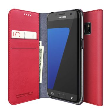 Araree - Samsung Galaxy S7 Edge Handyhülle - Case aus Leder - Mustang Diary Series - rot