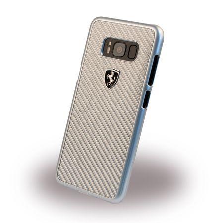 Ferrari - Samsung Galaxy S8 Handy Hülle - Cover aus Plastik/Carbon - Heritage Series - silber