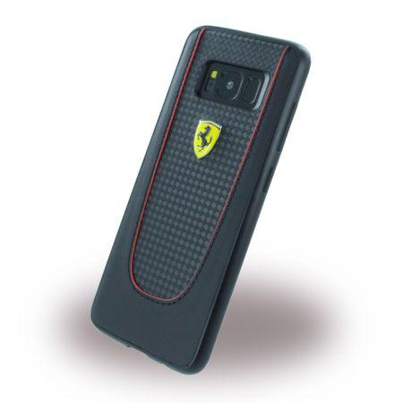 Ferrari - Samsung Galaxy S8 Handy Hülle - Carbon Hardcover - Pit Stop Series - schwarz