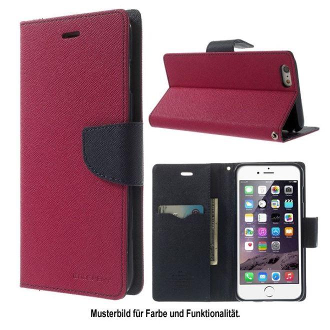 Goospery Goospery - LG Google Nexus 5 Hülle - Handy Bookcover - Fancy Diary Series - pink/navy