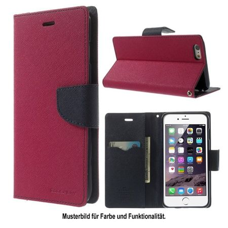 Goospery - LG Google Nexus 5 Hülle - Handy Bookcover - Fancy Diary Series - pink/navy