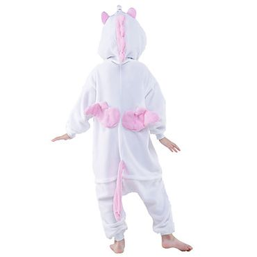 einhorn kost m onesie einhorn pyjama f r kinder gr sse 125 weiss rosa. Black Bedroom Furniture Sets. Home Design Ideas