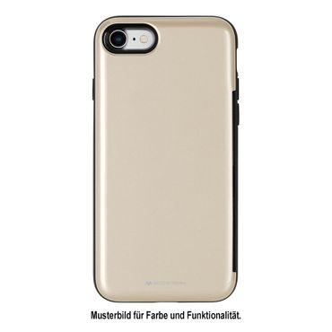 Mercury Goospery - iPhone 8 Plus / 7 Plus Case - Hülle aus Plastik - mit Kreditkartenfach - Happy Bumper Series - gold