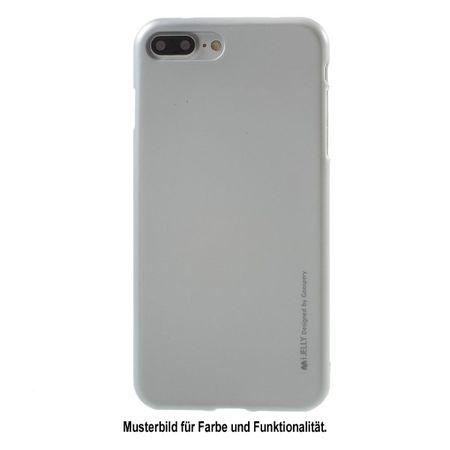 Goospery - Handy Hülle für LG K10 (2017) - TPU Soft Case - i Jelly Metal Series - silber