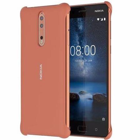 Nokia - Original Nokia 8 Handyhülle, Soft-Touch Case - kupfer