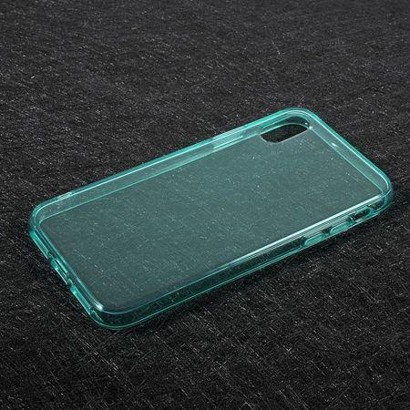 iPhone XS / X Handy Hülle - Case aus elastischem TPU Plastik - cyan