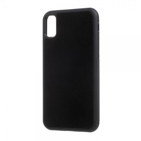 iPhone XS / X Handy Hülle - Anti-Gravity Case aus Plastik - klebt an glatten Oberflächen - schwarz
