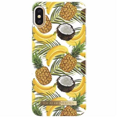iDeal of Sweden - iPhone XS / X Handyhülle, Designer Case BANANA COCONUT - mehrfarbig