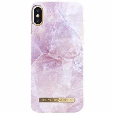 iDeal of Sweden - iPhone XS / X Handyhülle, Designer Case PILION PINK MARBLE - pink