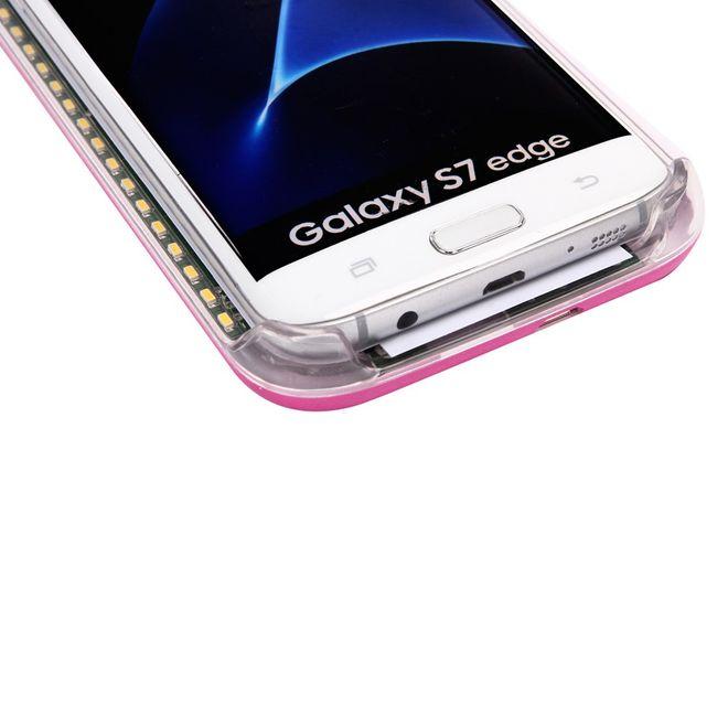 check out dd2f2 32b57 Lumee - Samsung Galaxy S8 Plus Handy Hülle - Case aus Plastik - mit  integriertem LED Selfie Licht - rosa