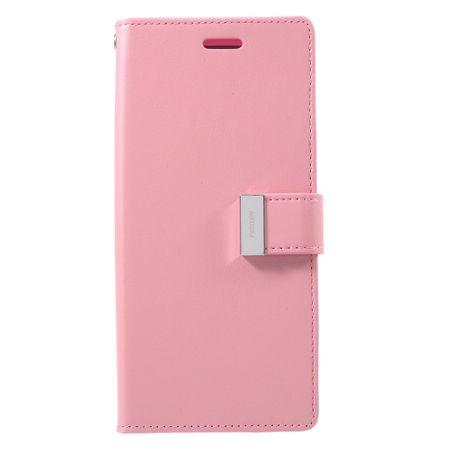 Mercury Goospery - Cover für Samsung Galaxy Note 8 - Handyhülle aus Leder - Rich Diary Series - pink/rosa