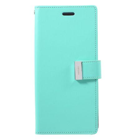 Mercury Goospery - Cover für Samsung Galaxy Note 8 - Handyhülle aus Leder - Rich Diary Series - mint/navy