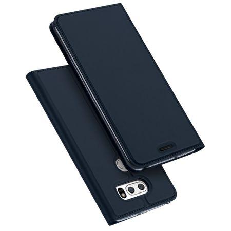 Dux Ducis - LG V30 Hülle - Handy Cover aus Leder - Skin Pro Series - blau