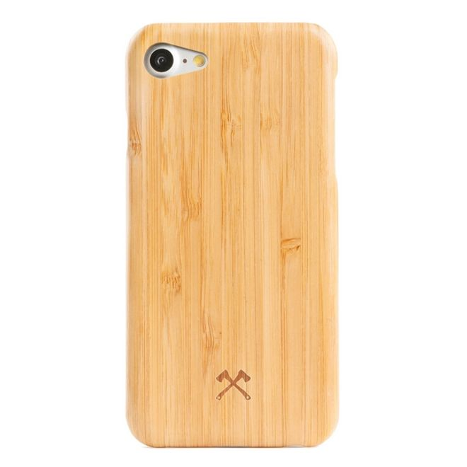 WOODCESSORIES WOODCESSORIES - iPhone 8 / 7 Handyhülle - Echtholz-Hightech Gewebe Backcover - EcoCase Slim - Bambus