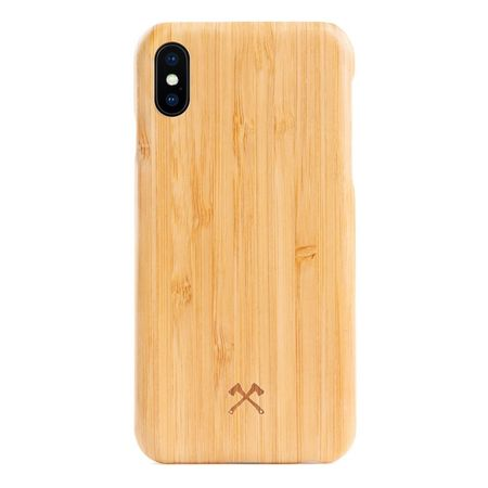 WOODCESSORIES - iPhone XS / X Handyhülle - Echtholz-Hightech Gewebe Backcover - EcoCase Slim - Bambus