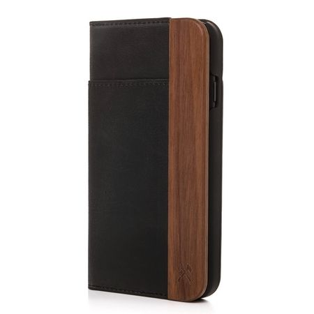 WOODCESSORIES - iPhone XS / X Handyhülle - Echtholz Bookcover - EcoWallet - Walnuss
