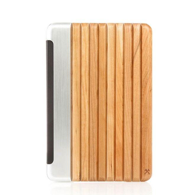 WOODCESSORIES WOODCESSORIES - iPad Mini 4 Hülle - Echtholz Case - EcoGuard - Kirschfarben/Silber/Transparent
