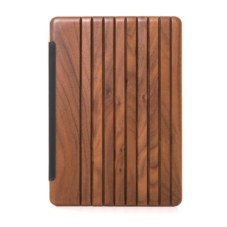 WOODCESSORIES - iPad 2017 Hülle - Echtholz Case - EcoGuard - Walnuss/Transparent