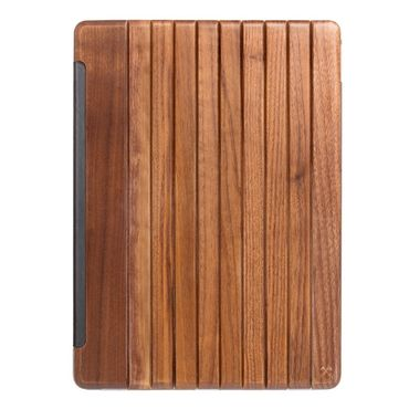 WOODCESSORIES - iPad Pro 12.9 Hülle (2017 / 2015) - Echtholz Case - EcoGuard - Walnuss/Transparent