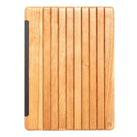 WOODCESSORIES - iPad Pro 12.9 Hülle (2017 / 2015) - Echtholz Case - EcoGuard - Kirschfarben/Transparent