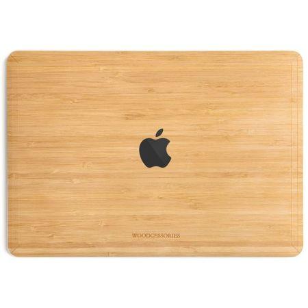 WOODCESSORIES - Macbook 15 Pro Touchbar Echtholz Skin - EcoSkin - Bambus