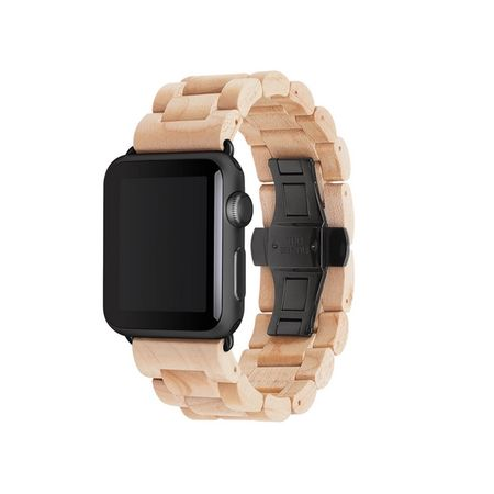 WOODCESSORIES - Apple Watch Armband (38mm) - Echtholz - EcoStrap - Ahorn/Schwarz