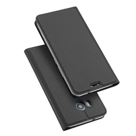 Dux Ducis - HTC U11 Hülle - Handy Bookcover - Skin Pro Series - dunkelgrau